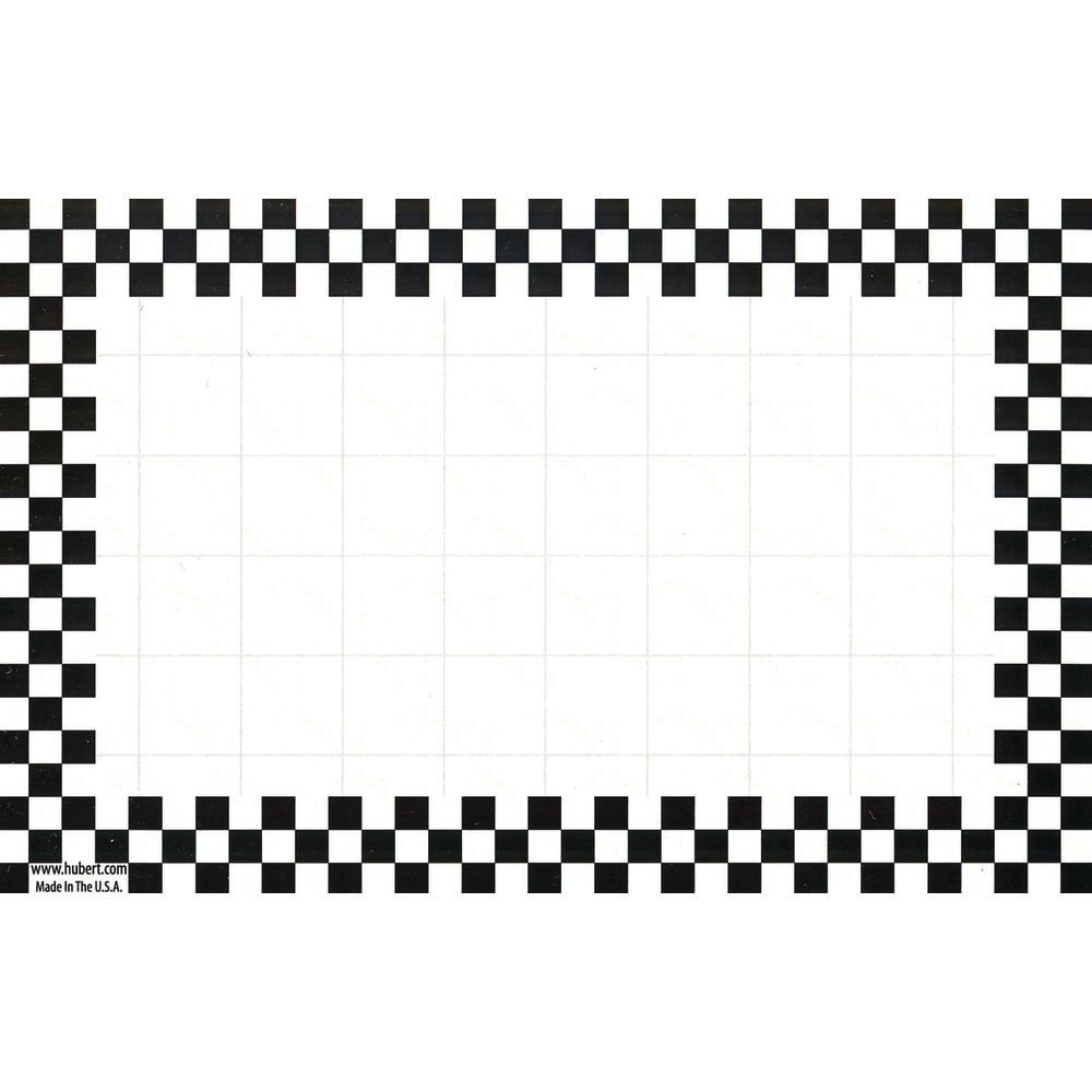 Retail Price Sign Sign Cards White Cards With Black Checkerboard Border - 5 1/2 L x 2 1/2 H 100 Per Pack Hubert