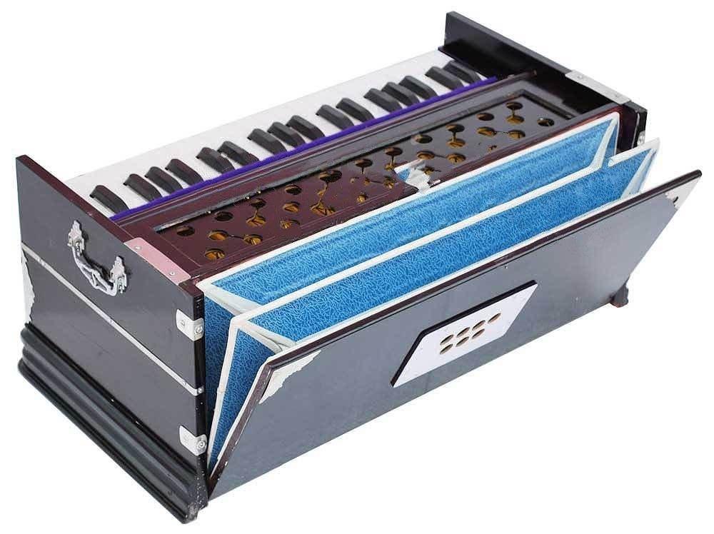 Queen Brass Harmonium-Peti- Octave-7 Stop Bass/Male Reed-440 Hz-Multi Fold Bellow