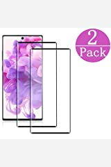 [Black][2Pack] Samsung Galaxy Note 10 Screen Protector(6.3 inch),Tempered Glass Anti-Scratch, Bubble Free and Case Friendly, 3D Curved Edge, Screen Protector Compatible Note 10 Board book