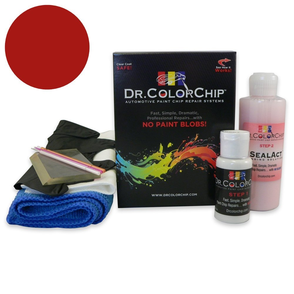 Dr. ColorChip Chevrolet Corvette Automobile Paint - Victory Red 74/WA9260/GCN - Squirt-n-Squeegee Kit