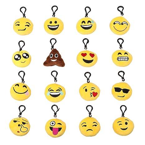 biowow 16 unidades almohadas Mini llavero Emoji suministros ...