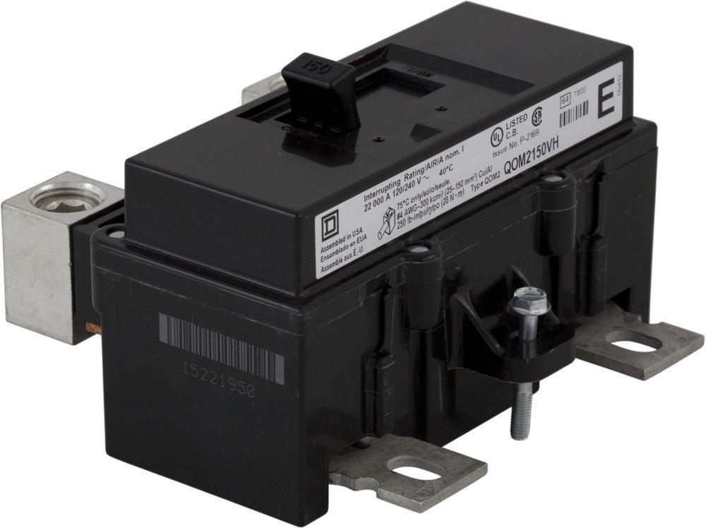New Square D QOM2150VH Circuit Breaker 2 Pole 150A 240V 22kA QOM Series