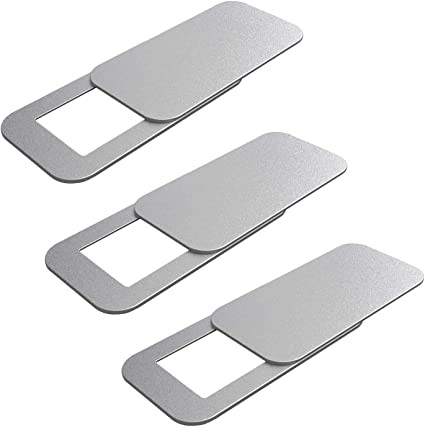 iPad Pro MacBook Pro T10, Silver iPad PC Laptop 2-Pack Ultra-Thin Webcam Cover Slider Plastic Large Size for Computer Surface Pro iMac