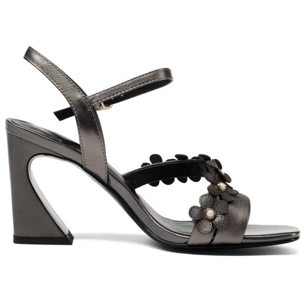 Luis Heels Vuis COOLCEPT Women Fashion High Heels Luis Sandals B07FD6857L 5 US = 23 CM|Gun Color 793713