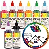 Chefmaster by US Cake Supply 2-ounce Liquid Candy Food Color 8 Bottle Kit with Mixing Wheel