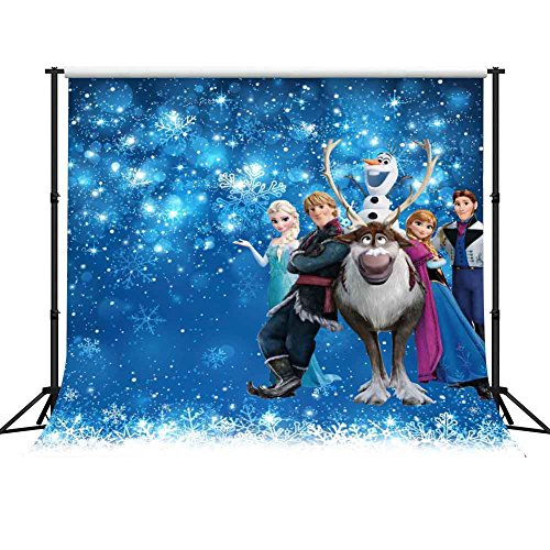 GESEN 10X10ft Disney Animation Movies Princess Elsa Backdrop Frozen Animated Character Party Children Photography Backgdrop for Pictures Theme Party Background PGGE027]()