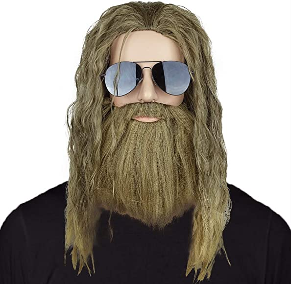 Excellent Amazon Com Thor Wig Thor Long Curly Golden Brown Hair And Beard Schematic Wiring Diagrams Amerangerunnerswayorg
