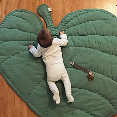Yunnyp Green Gary Leaf Type Baby Play Mat Cotton Soft Baby Sleeping Mats Floor Carpet Baby Gym Activity Room Decor Crawling Blanket Pad (Green): Kitchen & Dining