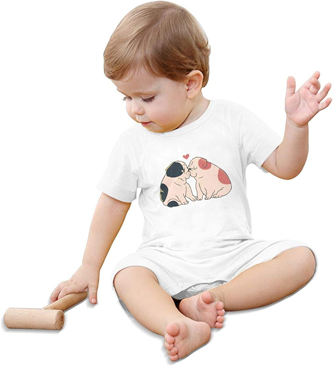 Toddler Baby Boy Girl Bodysuits English Bulldog Kisses Toddler Jumpsuit