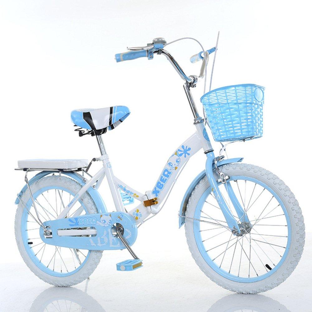 子供用折りたたみ自転車, 学生折りたたみ自転車 光ポータブル 小学生 折りたたみ自転車 8-12 歳の古い B07DFHH4X5青A 20inch