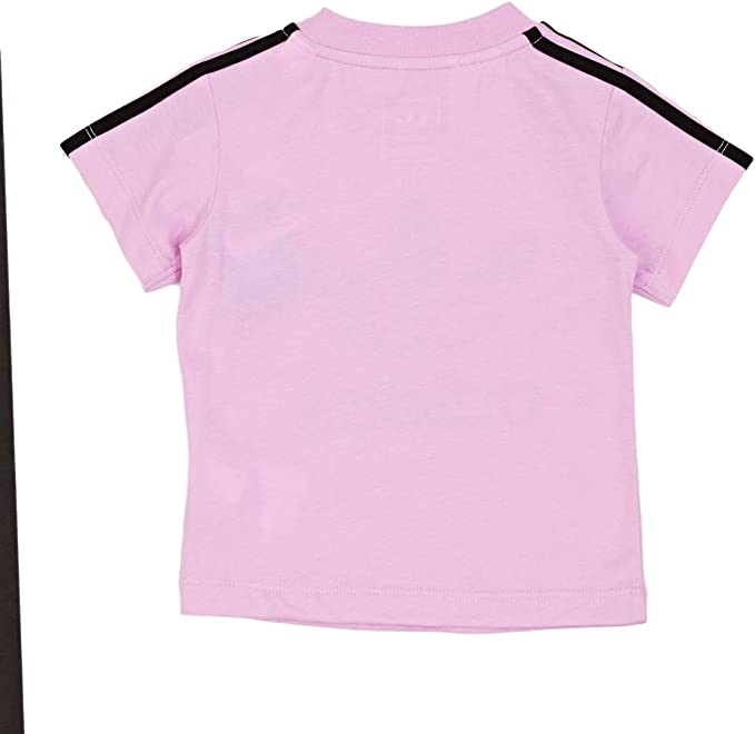 Adidas 3 Bandes Trefoil T Shirt Fille Rose, 2 3 ans: Amazon