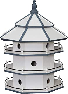 "product image for Saving Shepherd 12 Room Purple Martin Birdhouse - Large 30"" Swallow 3 Story Bird Condo House Amish Handcrafted in Lancaster Pennsylvania USA"