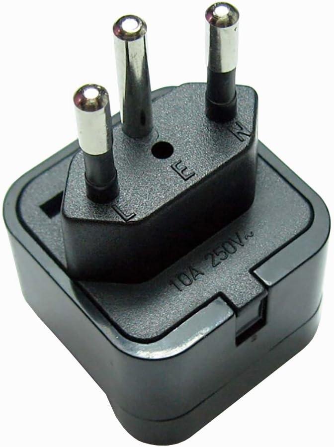 Adaptador de enchufe de Reino Unido a Suiza, adaptador de viaje (negro): Amazon.es: Electrónica
