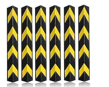 6 x perfil de protección de esquina de 78 cm, protección de cantos de esquina, protector de esquinas, protector de esquinas de goma: Amazon.es: Coche y moto