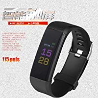 lixinfeng 115PLUS Heart Rate and Blood Pressure Monitoring Large Color Screen Smart Bracelet. (Blue)