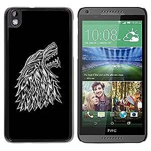 Paccase / SLIM PC / Aliminium Casa Carcasa Funda Case Cover para - Wolf Crest - HTC DESIRE 816