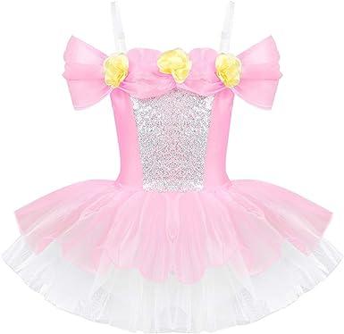 ranrann Vestido Tutú de Ballet Niña Vestido de Princesa con Flores ...