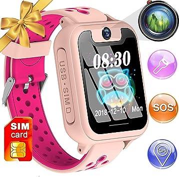 GYR Teléfono Smartwatch para niños, Reloj Inteligente para niñas ...