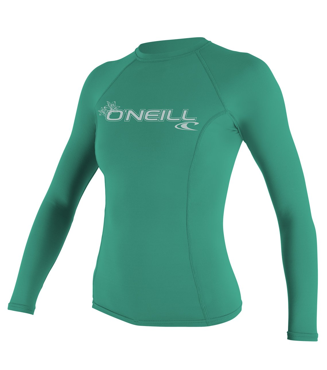 O'Neill Wetsuits UV Sun Protection Womens Basic Skins Long Sleeve Crew Sun Shirt Rash Guard, Seaglass, Large by O'Neill Wetsuits