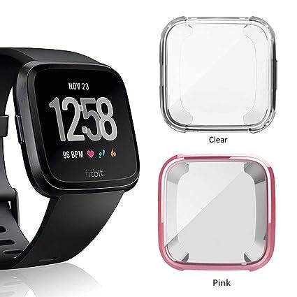 Amazon.com: Funda para Fitbit Versa, Belyoung Soft TPU Slim ...