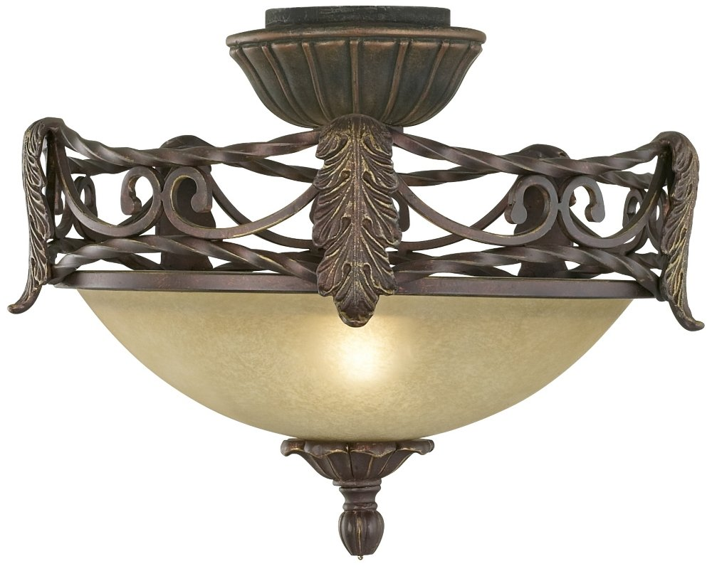 Acanthus Pull-Chain Ceiling Fan Light Kit in Scavo Glass by Universal Lighting and Decor