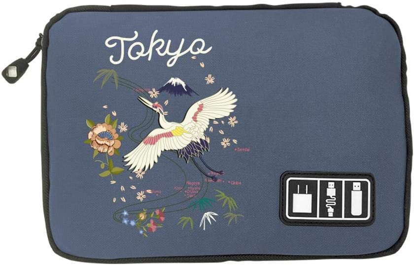 Electronic Accessories Travel Bag Birds and Flowers USB Flash Drive Case Bag Wallet SD Memory Cards Cable Organizer