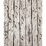 "HaokHome 8059 Vintage Wood Wallpaper Rolls Wheat/Brown Exposed Barnwood Tree Panels Plank Murals Home Interior Bedroom Decoration 20.8"" x 374"""