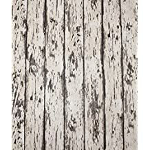 """HaokHome 8059 Vintage Wood Wallpaper Rolls Wheat/Brown Exposed Barnwood Tree Panels Plank Murals Home Interior Bedroom Decoration 20.8"""" x 374"""""""