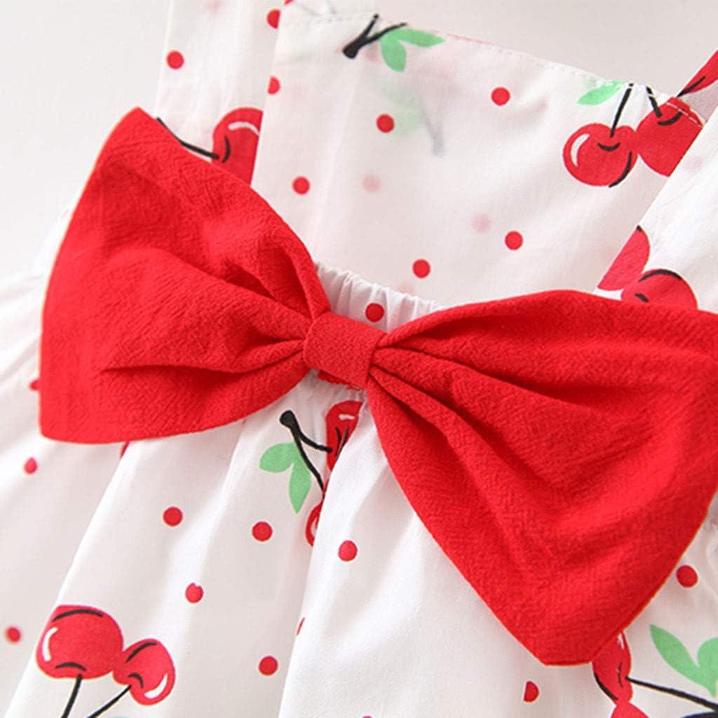 Newborn Lemon Bow Strap Princess Party Casual Dresses with Sun Hats WOCACHI Baby Girls Skirt Set
