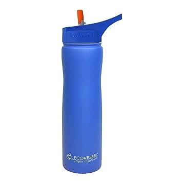 Amazon.com: EcoVessel Summit TriMax botella de agua de acero ...