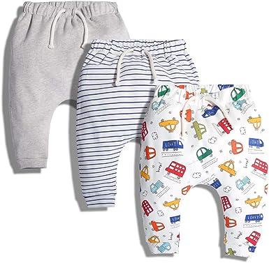 ARAUS Pantalones Bebé Estampado Niñas Patalones de Harén de 3 Piezas Deportes Cordones Primavera Otoño: Amazon.es: Ropa y accesorios