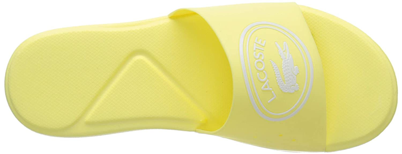 Lacoste L.30 Slide 119 1 Light Yellow//White Rubber Infant Slides Sandals