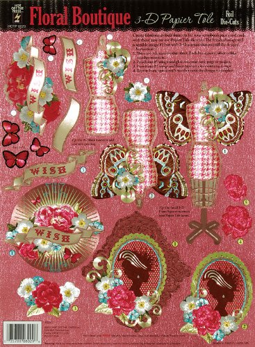 Hot Off The Press 3-D Papier Tole Foil Die-Cuts: Floral Boutique