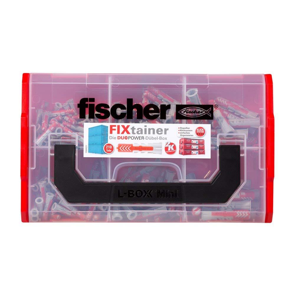 1/unidad 535968 Fischer fixtainer Duo Power Caja de tacos 210/piezas