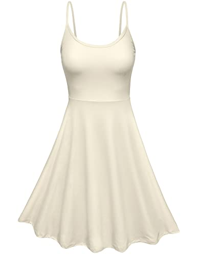 ZENNESSA Women's Cocktail Dress Sleeveless Cami Skater Garden Party Flare Mini Dress