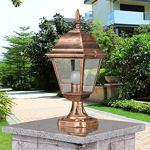 Waterproof Outdoor Pillar Lamp E27 Fence Park Villa Parking Gate Gazebo Column Light Decoration Landscape Chapiter Lighting (Park Gazebo)