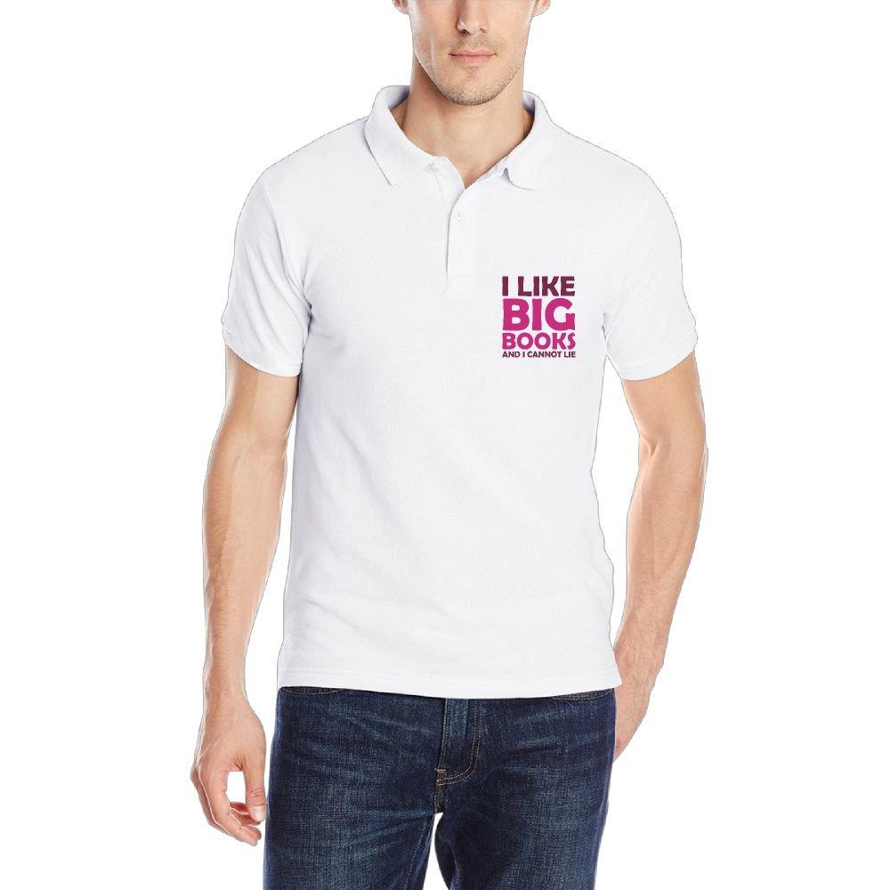 Kkajjhd I Like Big Books and I Cannot Lie3 Mens Short Sleeve Classic Fit Cotton Polo Shirt
