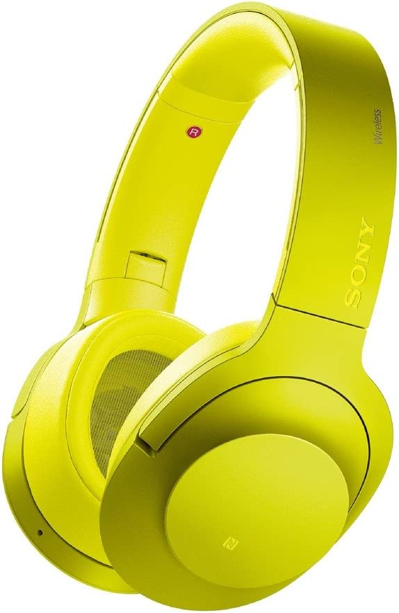 Sony H.ear on Wireless Noise Cancelling Headphone, Lime Yellow MDR100ABN Y