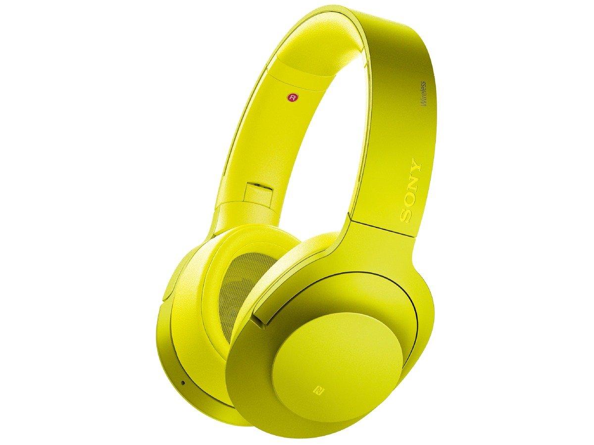 ソニー SONY ワイヤレスノイズキャンセリングヘッドホン h.ear on Wireless NC MDR-100ABN : Bluetooth/ハイレゾ対応 マイク付き ライムイエロー MDR-100ABN Y B01CQXGRM8 ライムイエロー