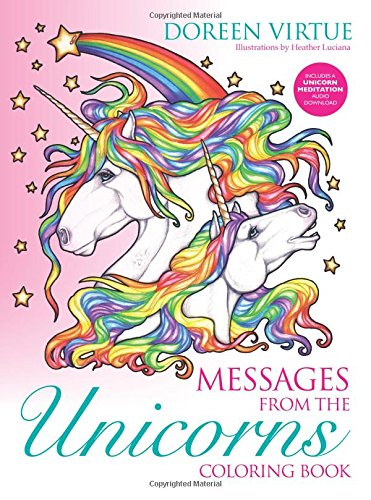 amazoncom messages from the unicorns coloring book 9781401952891 doreen virtue heather luciano books
