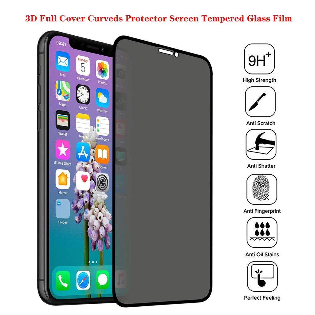 CreazyBee New Anti-Spy Privacy Tempered Glass Protector Screen Full Coverage Film Skin Compatible with iPhone 11 6.1 Inch/11Pro 5.8 inch/11Pro Max 6.5 inch (3PC, 11Pro Max 6.5Inch) by CreazyBee