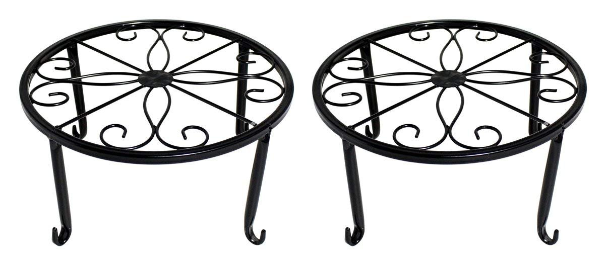 WELIGHT Plant Stand Indoor│Metal Plants Holders Outdoor,Perfect for Flower Pots Garden And Living Room│Air Plant Indoor│Outdoor Plant Holder│Potted Plant Trivets(black)