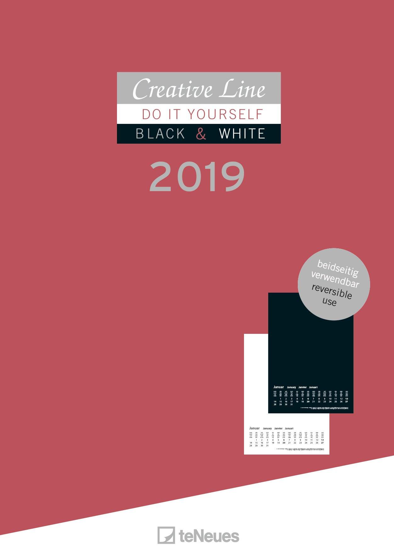 21 x 29,7 cm weiß Notice Kreativkalender A4 Bastelkalender 2020