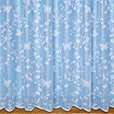 Butterfly Net Curtain White - Sold By The Metre (63' - 160cm)
