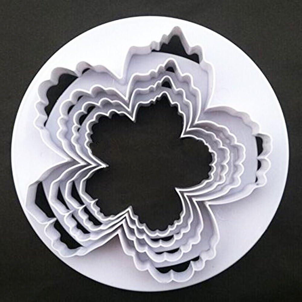 SPHTOEO Bigger Peony Petals Flower Cutter, Set of 4pcs Gum Paste Flowers Cake Decorating Cutter Fondant Mold Sugar Tools