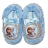 Disney Frozen Silver Glitter Turquoise Slippers Size 7 / 8