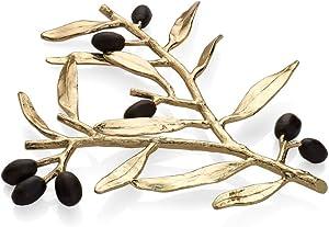 Michael Aram Olive Branch Trivet, Gold