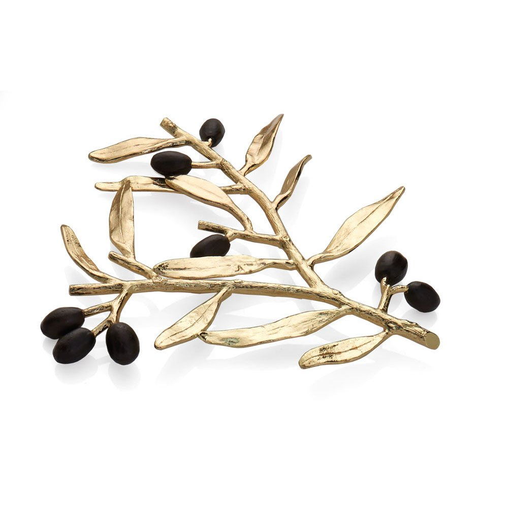 Michael Aram Olive Branch Trivet, Gold by Michael Aram