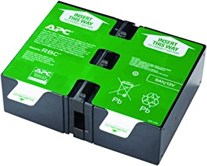 APC UPS Battery Replacement for APC UPS Models BR1500G, BR1300G, BX1500M, BX1500G, SMC1000-2U, SMC1000-2UC, BR1500GI, SMC1000-2U, SMC1000-2UC and Select Others (APCRBC124)