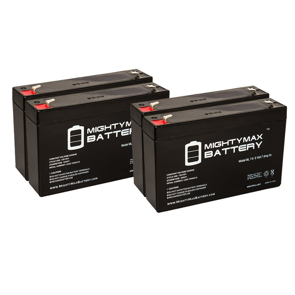 Mighty Max Battery 6V 7Ah Compatible Battery for UPS APC SUA750RM1U - 4 Pack brand product